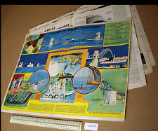 Australia's Sydney Harbour Bridge Art 1930s Modern Wonder Magazine V1 #15