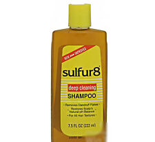 Lot 6 Sulfur 8 Medicated Dandruff Shampoo Men Women Dry Itchy Scalp Flakes Hair