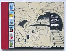 """LE TIMBRE VOYAGE AVEC,,,TINTIN""  HARD COVER  FRENCH 85 pages"