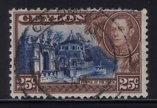 [JSC]1938 CEYLON Sc284 SG392 25c King George VI Temple of the Tooth