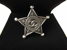 CHANEL PARIS DALLAS SHERIFFS STAR RING - NEW SIZE 5 - NEW STUNNING!