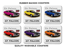 FORD  XA  351 GT  FALCON  COUPE      SET OF  6   QUALITY RUBBER DRINK  COASTERS