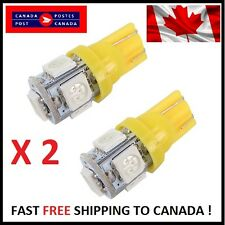 2X T10 Yellow 194 168 2825 5050 5SMD LED Bright Car Lights Lamp Bulb Peanut HID