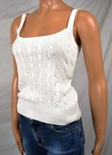 RALPH LAUREN WHITE CABLE KNIT SWEATER TANK TOP NWT M