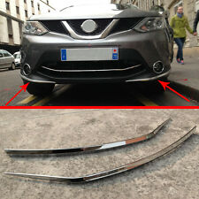ABS Chrome front Bumper Protector Trim For Nissan Qashqai 2014 2015 2016