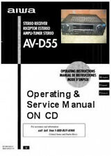 Aiwa Av-D55 Stereo Owners & Service Manuals On A Cd