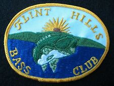 FLINT HILLS BASS CLUB EMBROIDERED SEW ON ONLY PATCH KANSAS ANGLER FISHING FISH