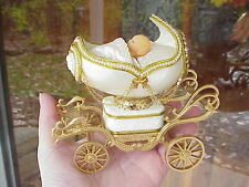 Decorated REAL Carved Goose Egg Carriage/Stroller Baby Shower Gift Decoration