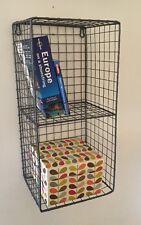 Fil métallique locker room 2 étagère unité de stockage rack cage vintage industriel rétro