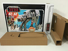 reproduction custom prototype star wars revenge of the jedi at-at box + inserts