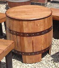 """Riciclato in rovere massello WHISKY Barrel """"Dundee"""" TAVOLO DA GIARDINO"""