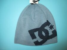 NEW DC SHOES SKATE Big Star BEANIE Cap HAT OSFA S M L Greyish Blue Navy