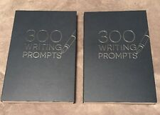 2 Books 300 WRITING PROMPTS  BLUE BOOKs  - One To Show & One To Go! ~Piccadilly