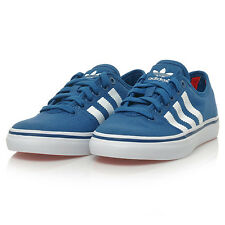 New Womens Adidas Adria Lo W S81240 Blue White Trainers Sneakers Shoe Size 6.5