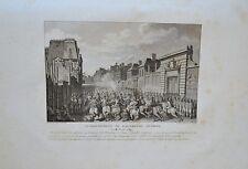 Deux Gravures XVIIIème - Attroupement au Fauxbourg Antoine - 1789 - Niquet
