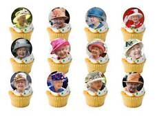 24 x Queens 90th 90 Years Birthday Street Party STAND UPS Edible Cup Cake Topper