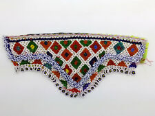 "Beaded Kuchi Kochi Jean Jacket Patch for Ethnic Crafts Clothing Tribal ATS 9""x4"""