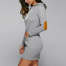 Sexy Winter Womens Slim Sweatshirt Hooded Casual Sweater Pullover Jumper Coat F