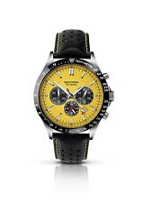 Sekonda Mens Gents Black Leather Strap Chronograph Dial Watch 3378 RRP £69.99