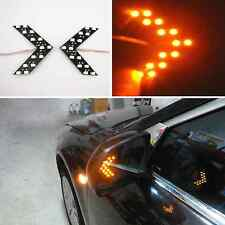 2 x Amber Arrow Panel Led Light Wing Mirror Rear View Mirror Turn Signal Lights