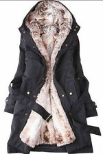 Fashion Womens Thicken Warm Winter Coat Hood Parka Overcoat Long Jacket Outwear