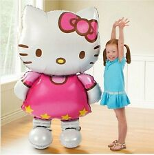 Large Cute Hello Kitty Cat Foil Balloons Birthday Party Gift Toy Kids 114*70cm