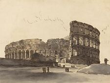 VICTOR Jean NICOLLE francese COLOSSEO Vecchia Pittura Arte Poster Stampa bb6473a