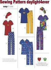Women Easy Sew Scrubs Top Pants Ponytail Hat Sewing Pattern 8266 New XXS-M #r