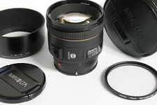 Minolta AF 85mm f1.4 lens in Sony/Minolta A mount lens, complete with makers cap