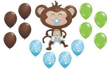 MONKEY Diaper Pacifier Yep I'm a Boy Baby Shower Safari Jungle Decor Balloon Set