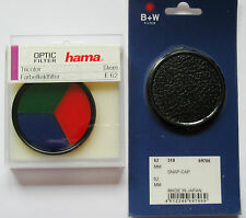 "62 mm SET NEU:TOLLER EFFEKT-FILTER ""TRICOLOR"" HAMA + OBJEKTIVDECKEL v. B&W 62mm"