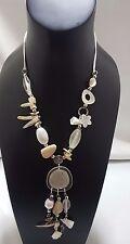 Para mujeres Largo Natural Blanco Perla y Shell Necklace