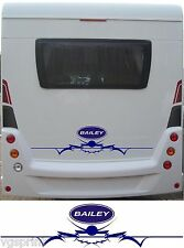 BAILEY LARGE MOTORHOME/CARAVAN REAR VINYL GRAPHICS DECALS CHOICE OF COLOURS #1