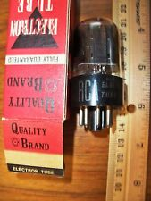 Strong RCA Black Plate Double Side Square D Getter 6SN7GTB Tube