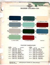 1954 HUDSON SUPER JET HORNET SUPER WASP PACEMAKER JETLINER 54 PAINT CHIPS ACME 3