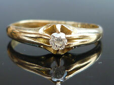 Stunning Early George V C1917 18ct gold Old mine cut solitaire diamond ring Oc10