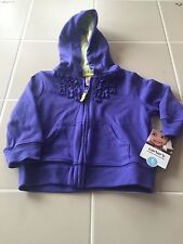 CARTER'S 6 MONTH PURPLE RUFFLE HOODED SWEATER JACKET