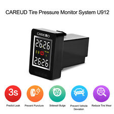 TPMS Car Tire Pressure Wireless Monitoring System 4 Built-in Sensors LCD f Honda