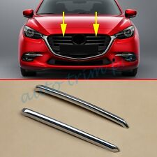 2PCS Front Bumper Grille Grill Cover Stripes Trim For 2017 Mazda 3 Accessories