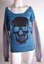 2016 NWT WOMENS METAL MULISHA STATIC SWEATER $50 S teal multi knitted