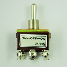 SA DPDT On/Off/On 3 Position 6 Screw Terminal Momentary Toggle Switch AC 250V15A
