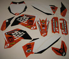 KTM SX 65 ORANGE BRIGADE SKULL CANDY GRAPHICS KIT SX65 65SX 09 10 11 12 13 14 15