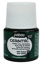 Pebeo CERAMIC Paint 45ml Pots - All Colours Available, for Porcelain, China, Etc