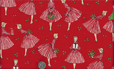 Retro Holiday Hostess I Spy Christmas Mid Century Modern Fabric Fat Quarter