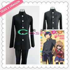 Anime TIGER X DRAGON Chinese tunic suit Toradora Takasu ryuuji Cosplay Costume