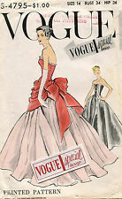 1950's VTG VOGUE Misses' Dress&Overbodice w/Pannier w/Label Pattern 4795 Size 14