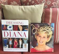 2 Princess Diana Books A Tribute To The People's Princess Book & Dressing Diana