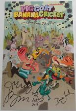 SDCC  2016  NICKELODEON Exclusive  PIG GOAT BANNA CRICKET  Poster SIGNED