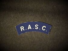 Royal Army Service Corps reproduction printed badges WWII for Battledress