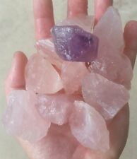 Gemstone Farmer: 10 Large Raw Pink Rose Quartz Rough Crystals From Madagascar